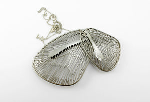 Necklace, silver wings
