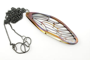 Necklace, silver oxidised