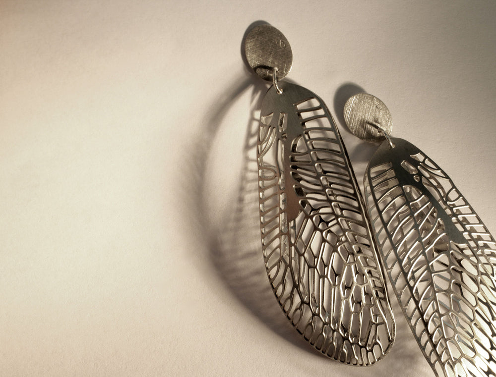Earrings, silver