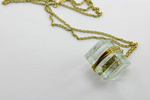 Necklace, transparent glass