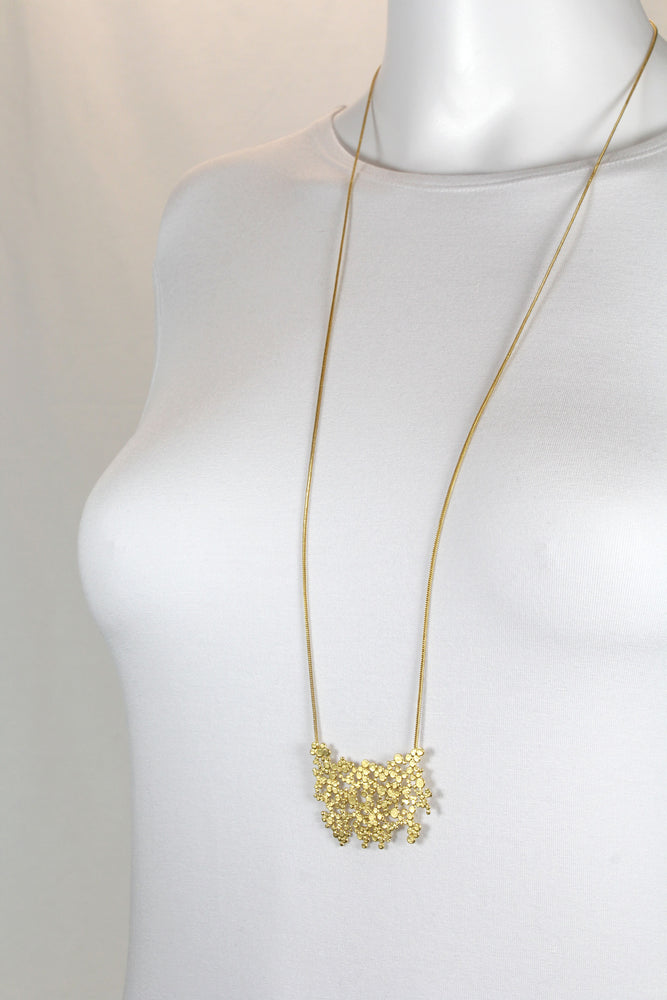 Necklace, gold-plated silver