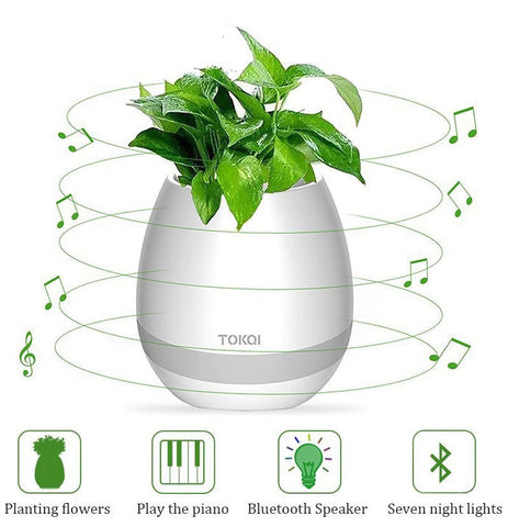 LED Bluetooth Music Planter Smart Pot - YouTech.Me