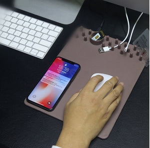 Multi-function Organizer Mouse Pad With Wireless Charging - YouTech.Me