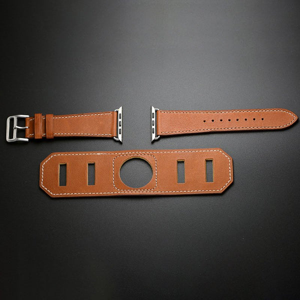 Sports Design Leather Apple Watch Band - YouTech.Me