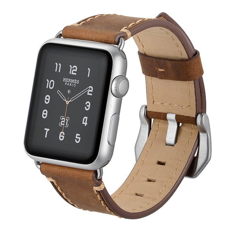 Ultra-Strong Leather Apple Watch Band - YouTech.Me