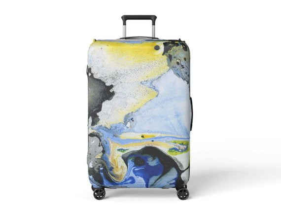 Abstract Art Luggage Protector - YouTech.Me
