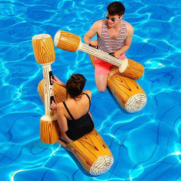 Inflatable Log Gladiator Game - YouTech.Me