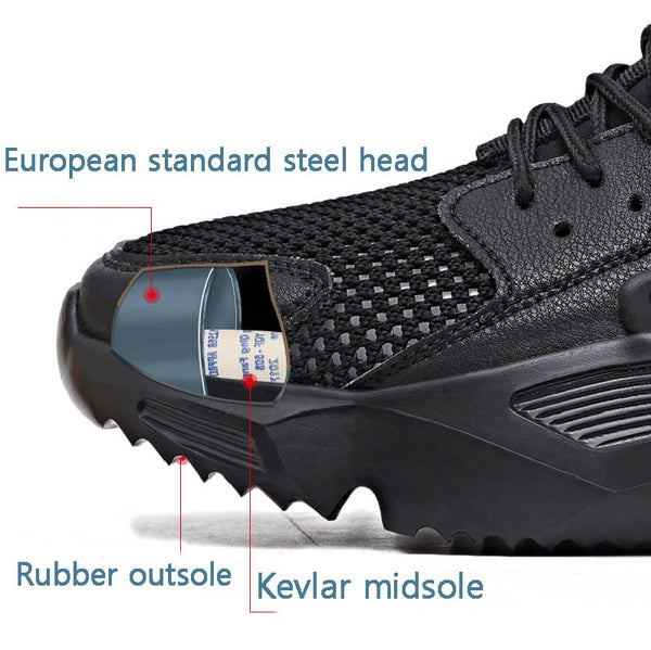 Air Mesh Breathable Safety Fashionable Shoes - YouTech.Me