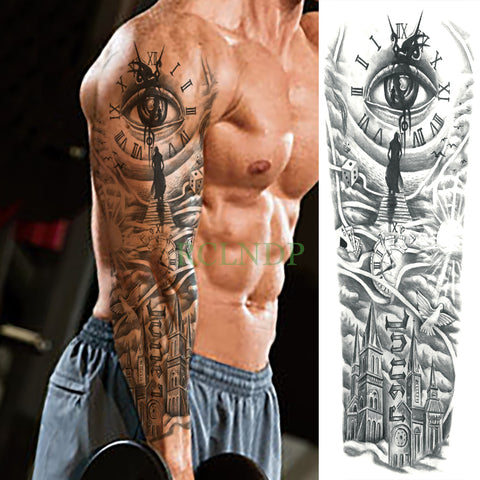 Large Full-Arm Waterproof Macho Tattoo