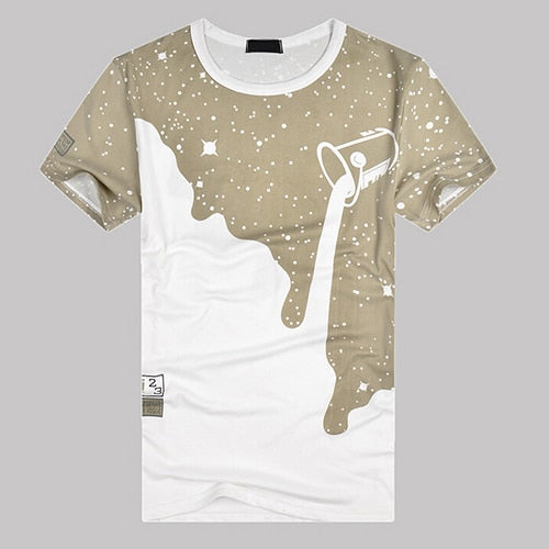 Milk Poured Pattern Men's T-Shirt - YouTech.Me