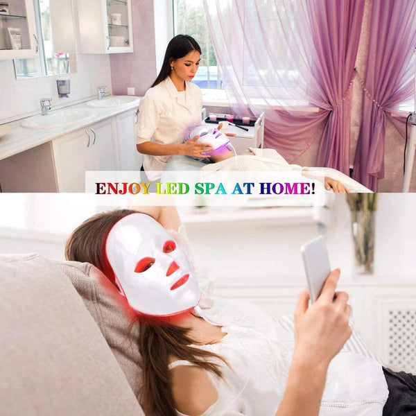 7 Colors LED Facial Mask - Your At-Home Skin Photon Therapy - YouTech.Me