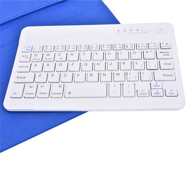 Portable Wireless Mobile Phone Keyboard with Leather Case - YouTech.Me