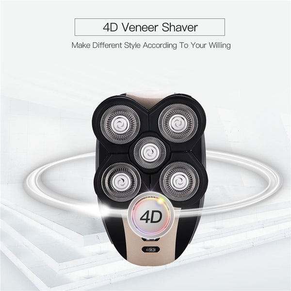 5 in 1 Multifunction Washable Rechargeable 5D Shaving Machine - YouTech.Me