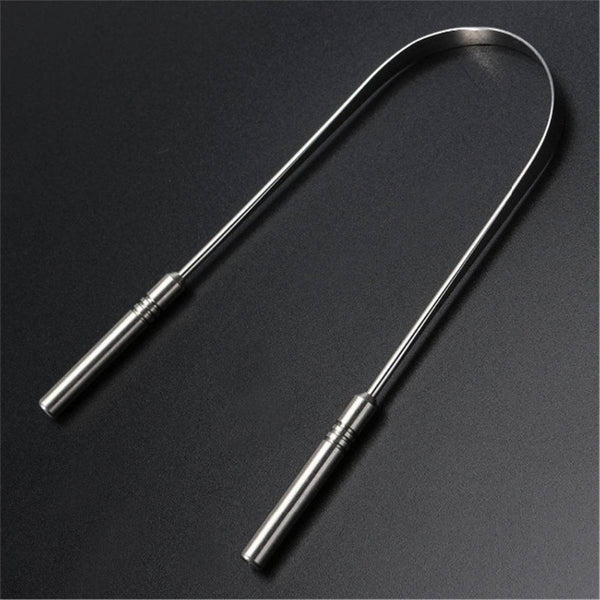 Stainless Steel Tongue Scraper - YouTech.Me