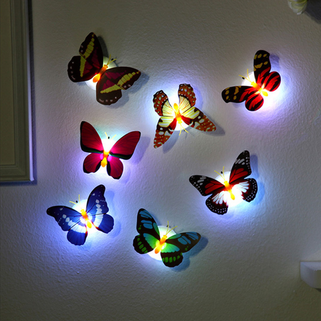 LED 3D Butterfly Wall Lights (10 pieces) - YouTech.Me