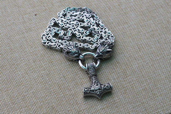 Viking Wolf Head Necklace - YouTech.Me