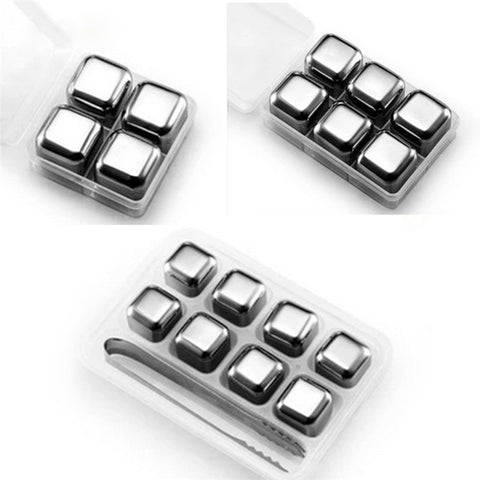 Stainless Steel Cocktail Magic Cooler Cubes