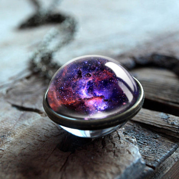 Universe Necklace (Galaxy Double-Sided Pendant) - YouTech.Me