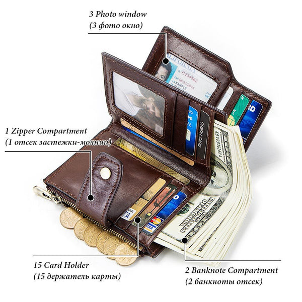 Upscale Genuine Leather Anti-Theft Wallet Guard - YouTech.Me