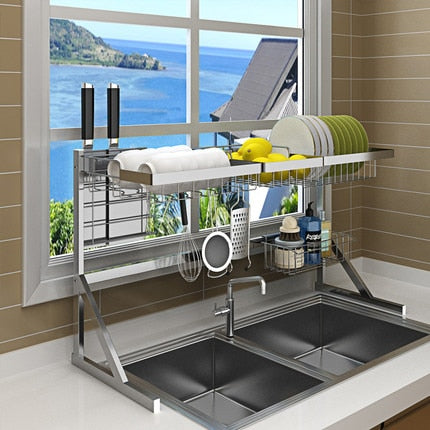 Stainless Steel Drain Rack on Kitchen Sink