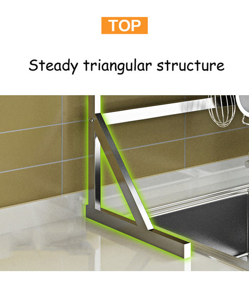 Stainless Steel Drain Rack on Kitchen Sink - YouTech.Me