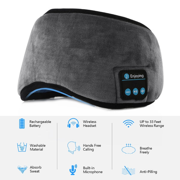 Bluetooth Sleeping Eye Mask Headset - YouTech.Me