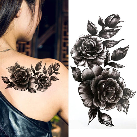 Sophisticated Flower Waterproof Sexy Tattoo