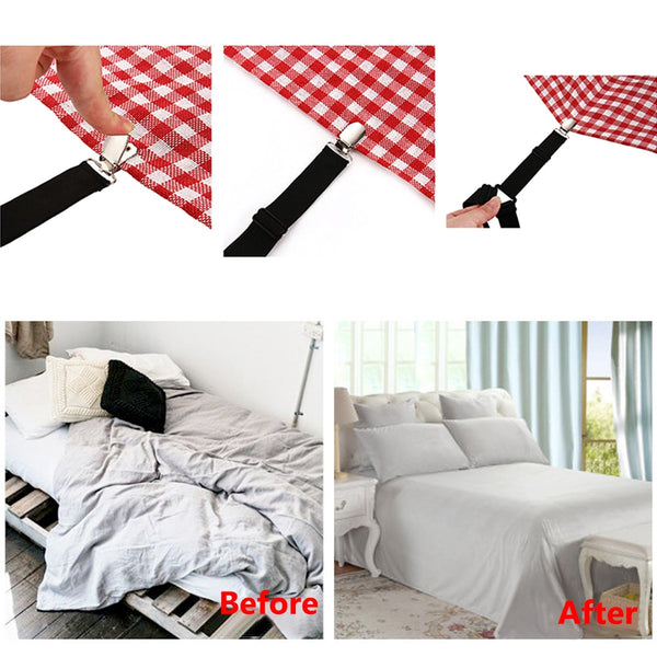 4Pcs/Set Adjustable Bed Sheets Holder - YouTech.Me