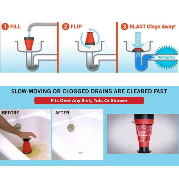 Sink Blaster Drain Unclogging Tool - YouTech.Me