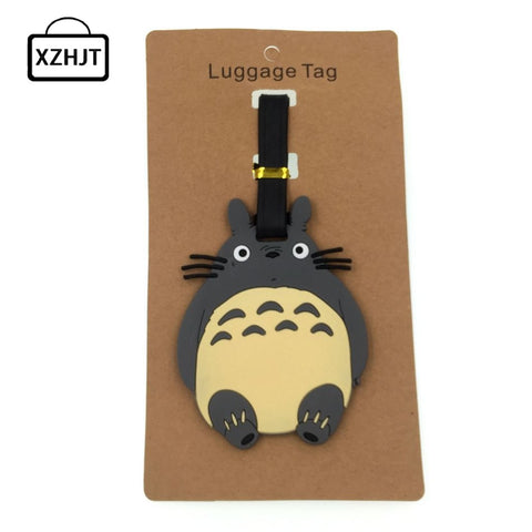 Cartoon Totoro Luggage Tag Silica Gel Suitcase ID Addres Holder Baggage Boarding Tags Portable Label