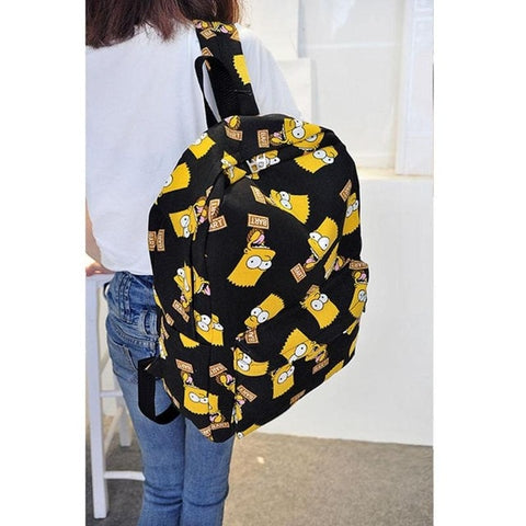 Print Backpack  Canvas Travel Bag for Teenage Mochila Feminina