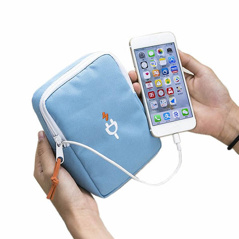 Digital Bag Data Lines Power Bank Package Portable MultiFunction Headset  Pouch Case Wallets