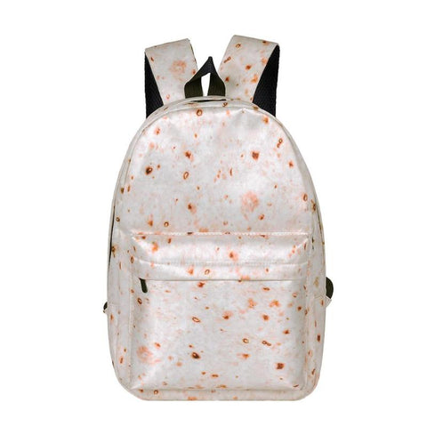 Large Capacity Casual Backpack Canvas  Preppy  Travel Print Bags