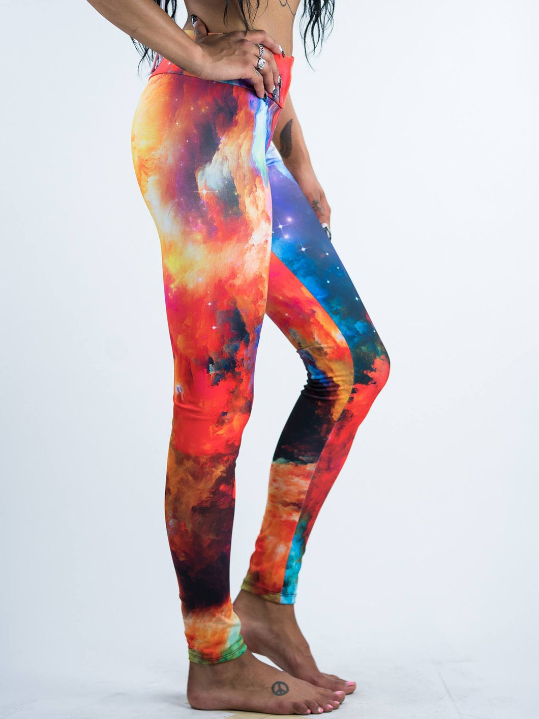 Amazing Galaxy Impressionism Art Design Leggings