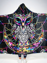 Load image into Gallery viewer, Amazing Owl Hindu Myth Digital Art Hooded Blanket