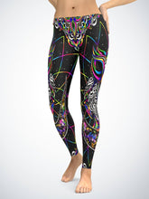 Load image into Gallery viewer, Amazing Owl Hindu Myth Digital Art Leggings