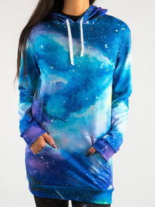 Amazing Painted Galaxy Design Hooded Mini Dress