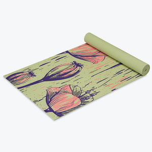 Blooming Flowers Design Yoga Mats