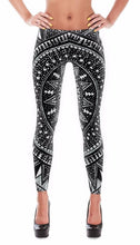 Load image into Gallery viewer, Inspiring Hindu Forest Line Art Design Leggings