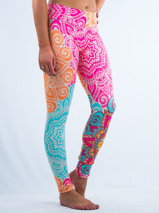Inspiring Hindu Line Art Design Leggings