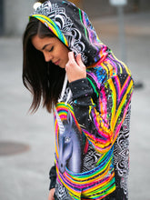Load image into Gallery viewer, Magnificent Unicorn Design Hooded Mini Dress