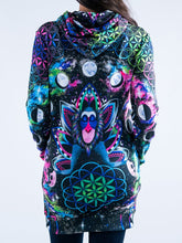 Load image into Gallery viewer, Meditating Monkey Hooded Mini Dress