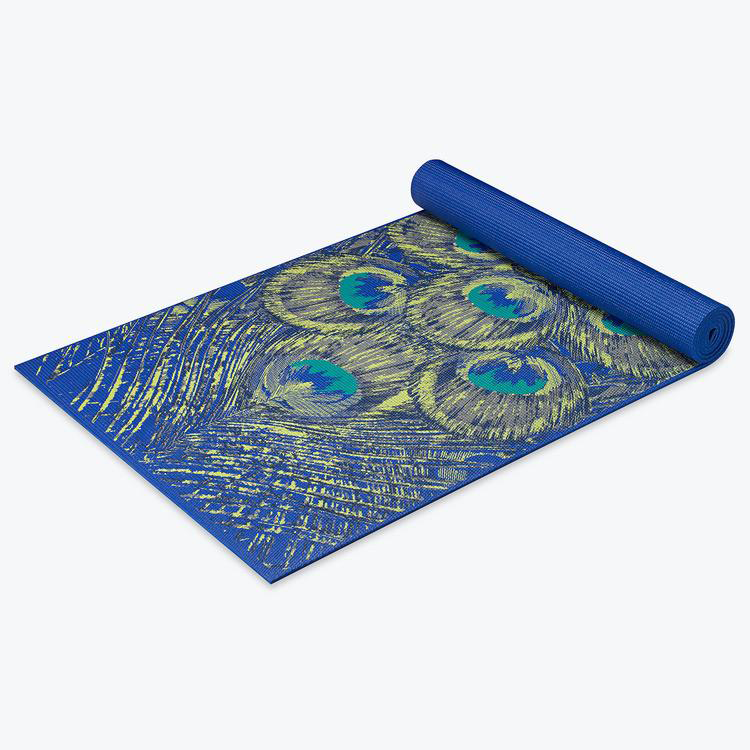 Awesome Sapphire Feather Design Yoga Mats