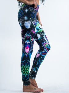 Universe Monkey Digital Art Leggings