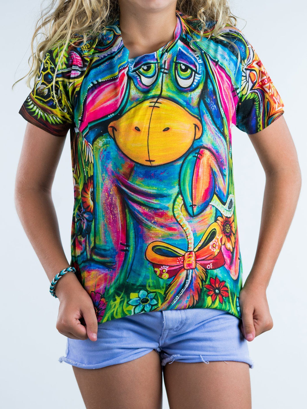 Colorful Donkey Design Kids Tee