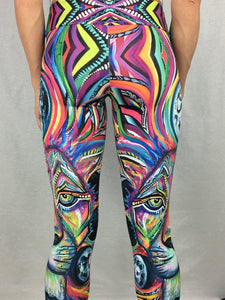 The Maya Lion Digital Art Leggings