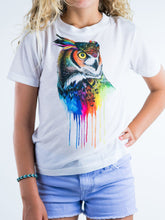 Load image into Gallery viewer, Colorful Owl Design Kids Tee