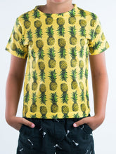 Load image into Gallery viewer, Pineapple Design Kids Tee