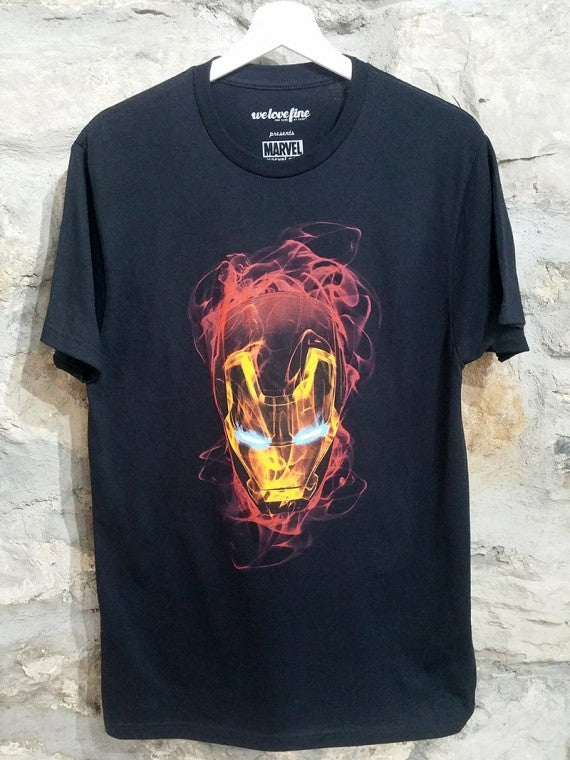 IRON MAN SMOKEY MASK T SHIRT