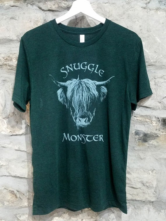 MENS SNUGGLE MONSTER T-SHIRT EMERALD